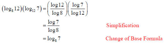 Using the logarithmic product rule